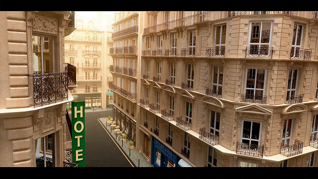 Animowana 3D ulicy Paris