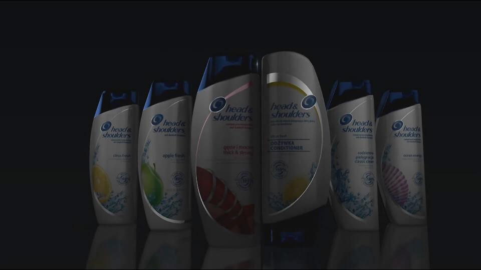 Animacja produktowa 3D do filmu reklamowego Head and Shoulders