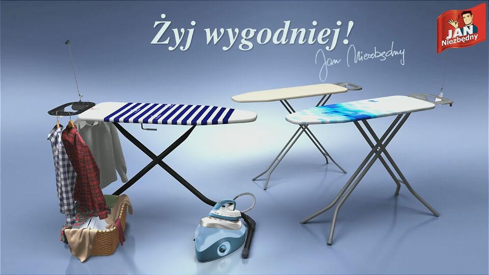 Film reklamowy animacja 3D Jan Niezbędny deski do pracowania